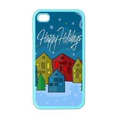 Xmas Landscape Apple Iphone 4 Case (color) by Valentinaart