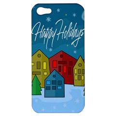Xmas Landscape Apple Iphone 5 Hardshell Case by Valentinaart