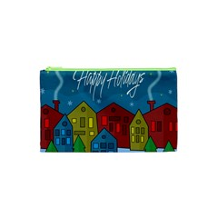 Xmas Landscape Cosmetic Bag (xs) by Valentinaart