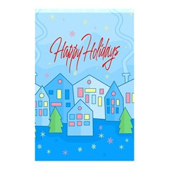 Xmas Landscape   Happy Holidays Shower Curtain 48  X 72  (small)  by Valentinaart