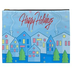 Xmas Landscape   Happy Holidays Cosmetic Bag (xxxl)  by Valentinaart