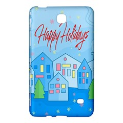 Xmas Landscape   Happy Holidays Samsung Galaxy Tab 4 (8 ) Hardshell Case  by Valentinaart