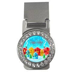 Christmas Magical Landscape  Money Clips (cz)  by Valentinaart