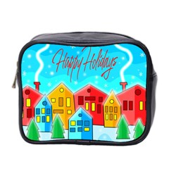 Christmas Magical Landscape  Mini Toiletries Bag 2 Side by Valentinaart