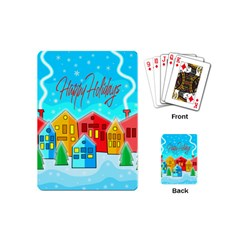 Christmas Magical Landscape  Playing Cards (mini)  by Valentinaart