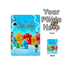 Christmas Magical Landscape  Playing Cards 54 (mini)  by Valentinaart