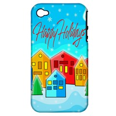 Christmas Magical Landscape  Apple Iphone 4/4s Hardshell Case (pc+silicone) by Valentinaart