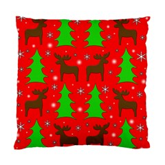 Reindeer And Xmas Trees Pattern Standard Cushion Case (one Side) by Valentinaart