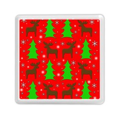 Reindeer And Xmas Trees Pattern Memory Card Reader (square)