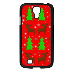 Reindeer And Xmas Trees Pattern Samsung Galaxy S4 I9500/ I9505 Case (black) by Valentinaart
