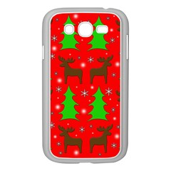 Reindeer And Xmas Trees Pattern Samsung Galaxy Grand Duos I9082 Case (white) by Valentinaart