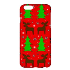 Reindeer And Xmas Trees Pattern Apple Iphone 6 Plus/6s Plus Hardshell Case by Valentinaart