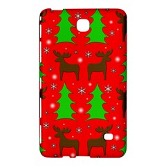 Reindeer And Xmas Trees Pattern Samsung Galaxy Tab 4 (7 ) Hardshell Case  by Valentinaart
