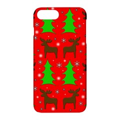 Reindeer And Xmas Trees Pattern Apple Iphone 7 Plus Hardshell Case