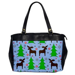 Reindeer And Xmas Trees  Office Handbags by Valentinaart