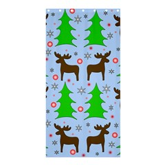 Reindeer and Xmas trees  Shower Curtain 36  x 72  (Stall)  by Valentinaart