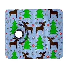 Reindeer And Xmas Trees  Galaxy S3 (flip/folio) by Valentinaart