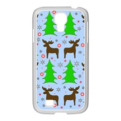 Reindeer And Xmas Trees  Samsung Galaxy S4 I9500/ I9505 Case (white) by Valentinaart