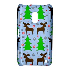 Reindeer And Xmas Trees  Nokia Lumia 620 by Valentinaart