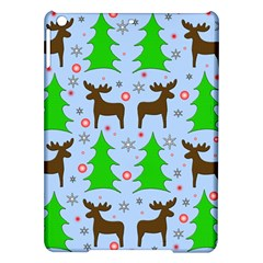 Reindeer And Xmas Trees  Ipad Air Hardshell Cases by Valentinaart