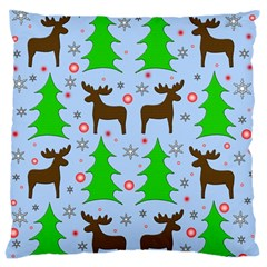 Reindeer And Xmas Trees  Standard Flano Cushion Case (one Side)