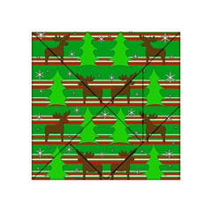 Christmas trees and reindeer pattern Acrylic Tangram Puzzle (4  x 4 ) by Valentinaart