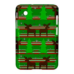 Christmas Trees And Reindeer Pattern Samsung Galaxy Tab 2 (7 ) P3100 Hardshell Case  by Valentinaart