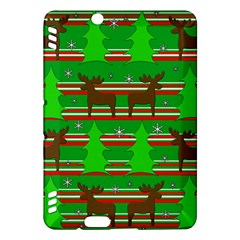 Christmas Trees And Reindeer Pattern Kindle Fire Hdx Hardshell Case by Valentinaart