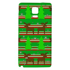 Christmas Trees And Reindeer Pattern Galaxy Note 4 Back Case by Valentinaart