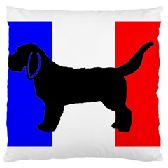 Basset Fauve De Bretagne Silo On Flag Large Cushion Case (One Side) by TailWags