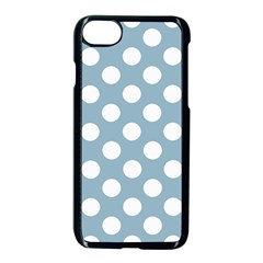 Blue Polkadot Background Apple iPhone 7 Seamless Case (Black) by Zeze