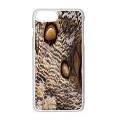Butterfly Wing Detail Apple iPhone 7 Plus White Seamless Case by Zeze