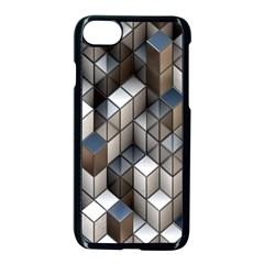 Cube Design Background Modern Apple iPhone 7 Seamless Case (Black) by Zeze