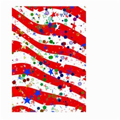 Confetti Star Parade Usa Lines Large Garden Flag (Two Sides) by Zeze