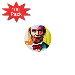Abraham Lincoln 1  Mini Buttons (100 Pack)  by bhazkaragriz