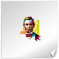 Abraham Lincoln Canvas 16  X 16   by bhazkaragriz