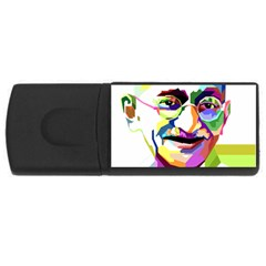 Ghandi Usb Flash Drive Rectangular (4 Gb)  by bhazkaragriz