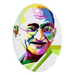 Ghandi Oval Ornament (two Sides) by bhazkaragriz