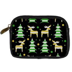 Decorative Xmas Reindeer Pattern Digital Camera Cases by Valentinaart