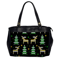 Decorative Xmas Reindeer Pattern Office Handbags by Valentinaart