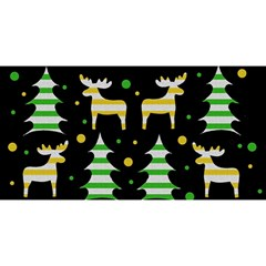 Decorative Xmas Reindeer Pattern You Are Invited 3d Greeting Card (8x4) by Valentinaart