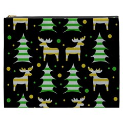 Decorative Xmas Reindeer Pattern Cosmetic Bag (xxxl)  by Valentinaart