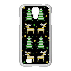 Decorative Xmas Reindeer Pattern Samsung Galaxy S4 I9500/ I9505 Case (white) by Valentinaart