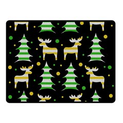 Decorative Xmas Reindeer Pattern Double Sided Fleece Blanket (small)  by Valentinaart