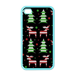 Reindeer Decorative Pattern Apple Iphone 4 Case (color) by Valentinaart