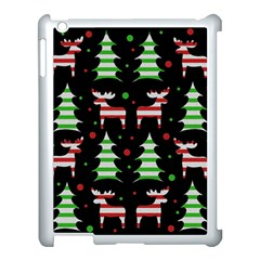 Reindeer Decorative Pattern Apple Ipad 3/4 Case (white) by Valentinaart