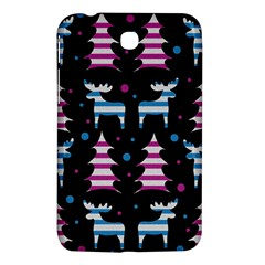 Blue And Pink Reindeer Pattern Samsung Galaxy Tab 3 (7 ) P3200 Hardshell Case  by Valentinaart