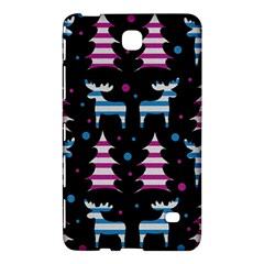 Blue And Pink Reindeer Pattern Samsung Galaxy Tab 4 (8 ) Hardshell Case  by Valentinaart