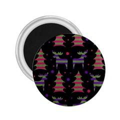 Reindeer Magical Pattern 2 25  Magnets by Valentinaart