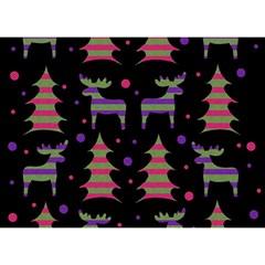 Reindeer Magical Pattern Birthday Cake 3d Greeting Card (7x5) by Valentinaart